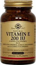 Solgar Vitamin E 200 IU 200 IU d-Alpha Tocopherol & Mixed Tocopherols, 100ct