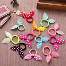 5PCS Rabbit Bunny Ear Ribbon Hair Band Wire Hair Bands Ribbon Dot Gum HeadbandRX