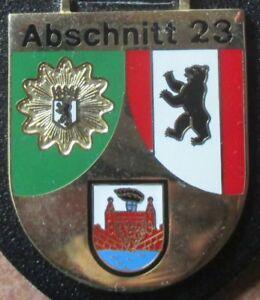 Brustanhänger Verbandsabzeichen Polizei  Berlin  Abschnitt 23 (E)
