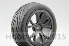 4pcs 1/10 Buggy Tires Nylon Wheel Tire Set For 4WD Buggy On Road 25038+27007