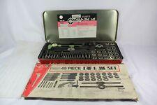 Vintage Duracraft 45 Pc. Tap & Die Set Made in JAPAN Tungsten Steel NC&NF Thread