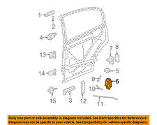 Saturn GM OEM 03-07 Ion Rear Door-Lock or Actuator Latch Release 15900269