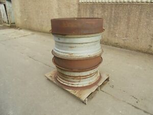 #B0615 Stocks 15 x 38 dual wheel rims & clamps. To suit 16.9R38 18.4R38 tyres.