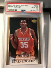 2007 UD First Edition Kevin Durant #202 GOLD Warriors Rookie RC PSA 10 Gem Mint