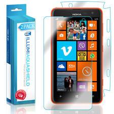 2x iLLumi AquaShield HD Front Screen + Back Panel Protector for Nokia Lumia 625