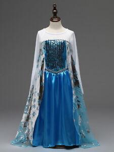 Frozen Princess Queen Elsa Anna Adults Girls Costume Cosplay Party Fancy Dress
