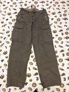 Vintage 60s German Wool Hunting Army outdoor hiking Cargo Pants Military 34x32
