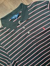 Ralph Lauren Polo Golf Shirt Adult Large Black Red Pony Rugby Casual Mens A40