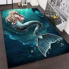 Beautiful Mermaid Rug Area Rug- Rug Area Rug Decorative Floor Mat Carpet