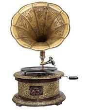 Nostalgie Grammophon rund Dekoration Trichter Grammofon Antik-Stil (m2)