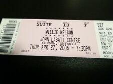 Willie Nelson Concert Ticket Unused Stub