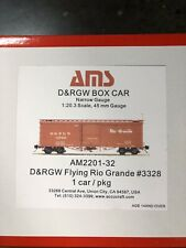Accucraft 1:20.3 D&RGW Box Car #3328