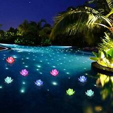 Swim Pool Lights Led Color Changing Butterfly Flower Lotus 6 Pc Party New