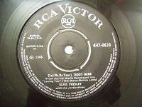"ELVIS PRESLEY teddy bear/loving you 1966 RARE SINGLE 7"" 45 RPM INDIA INDIAN VG+"