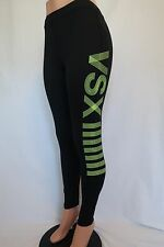 Women's Victoria's Secret VSX Sport Leggings Black & Yellow