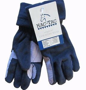 BNWT Hac Tac Winter Fleece Horse Riding Gloves Ladies Gents Medium Large Extra x