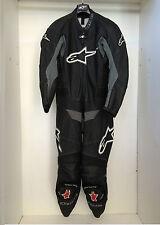 Tuta Alpinestars TZ-1 Intera in pelle da pista colore grigio nero taglia 50