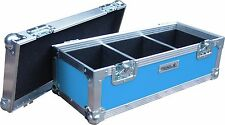 "7"" solo 300 estuche de vuelo de Cisne Caja de discos de vinilo (PVC) rígido azul claro"
