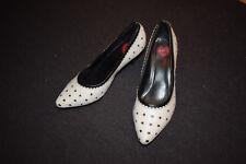 TUK UK Pumps weiss  mit Stars  für 50er Rockabella Leder Rockabilly Party Shoes