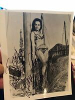 Autographed rare photo and COA James Bond Aliza Gur From Russia With Love