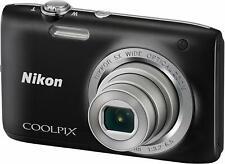 Nikon Coolpix S2800 Digital Camera with 20.1MP  5X Optical Zoom (Black)