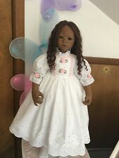 Fits Himstedt Matoka And Others White Eyelet Dress Pink Trim #389 New