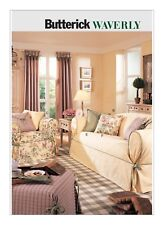 B3877 Sewing Pattern Home Decorating Drapes Sofas Slipcovers Pillows  Waverly