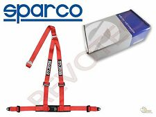 "Red Sparco Racing Street 3 Point Bolt-in 2"" Seat Safty Belt Harness"