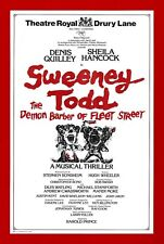 "Sondheim's ""SWEENEY TODD"" Denis Quilley / Sheila Hancock 1980 London Flyer"