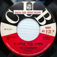 The WANDERERS doowop PROMO 45 I'll Never Smile Again b/w A Little Too Long FM660