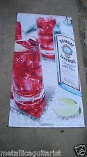 "BOMBAY SAPPHIRE GIN - 70"" x 36"" SATIN CLOTH ADVERTISING WALL BANNER *NEW*"