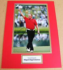Miguel Angel Jimenez Genuine Hand Signed Autograph 16x12 Photo Mount Golf & Coa