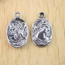 8pcs Tibetan Silver Lady oval charms findings h1124
