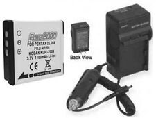 Battery + Charger for Fuji FujiFilm F200 EXR F200EXR X10 F600EXR F605EXR
