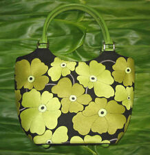 "NEW! ~ DESIGNER EMBROIDERED ""BLACK - GREEN FLOWERS"" BAG!"