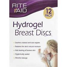 Rite Aid Hydrogel Hydro gel BREAST DISCS PADS 12 PACK breastfeeding pads