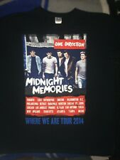 One Direction Concert T Shirt MIdnight Memories Tour 2014 Adult Size Large