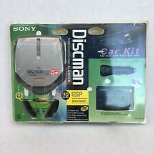 Vintage Sony Discman Portable CD Player D-E307CK With Car Kit