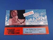 INK BLOTTER HAMCO CANADA'S FINEST COKE JAS STODDARD COAL COMPANY HAMILTON CANADA