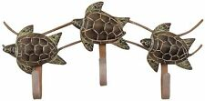 T.I. Design Triple Sea Turtle Wall Hook One Size Brown