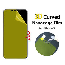 2x FULL SCREEN Face Curved TPU Screen Protector Cover For Apple iPhone X 10