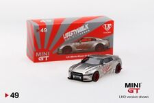 MINI GT 1/64 Liberty Walk LB Works Nissan GT-R (R35) (Satin Silver) MGT00049