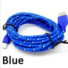 1M largo Trenzado Tela Micro Cable USB Carga Sincronización de Datos Cable Para