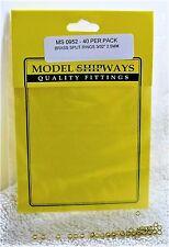 "Model Shipways Fittings MS 0952 Brass Split Rings 37/32"" (2.5MM). 40 Per Pack."