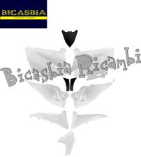 6377 KIT 10 PEZZI FIANCATE SCUDO CARENE BIANCO COMPETITION YAMAHA 530 TMAX T-MAX