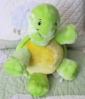 "Little Miracles Turtle Costco Plush Stuffed Yellow Green Stuffed Toy 10"" EUC"