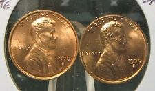 1970-S--(SMALL & LARGE DATE)  BOTH COINS MS-BU RED--- LINCOLN CENTS>>RARE