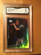 PEYTON MANNING 1998 Upper Deck #1 Rookie Card Indianapolis Colts GRADED 9 MINT