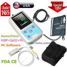 FDA CONTEC PM50 Portable Vital Signs Patient Monitor NIBP/SpO2/Pr,PC Software,US