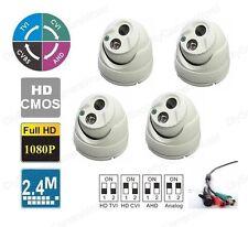 4PCS HD Dome Camera 3.6 mm Wide Angle View IP66 Outdoor Matrix IR Metal Housing